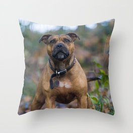 STAFFY IN WOODLAND Throw Pillow