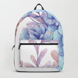 Blue hues and wine Backpack
