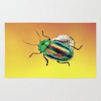 beetle Area & Throw Rugs featuring Beetle by Ganech joe