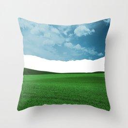 Lost Horizon Vertical2 Throw Pillow