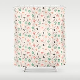 Forest love Shower Curtain
