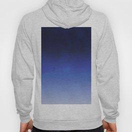 Modern navy blue watercolor ombre gradient fade Hoody