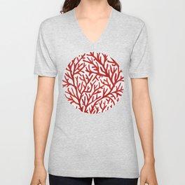 Red Coral Unisex V-Neck