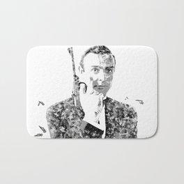James Bond Sean Connery Text Portrait Bath Mat