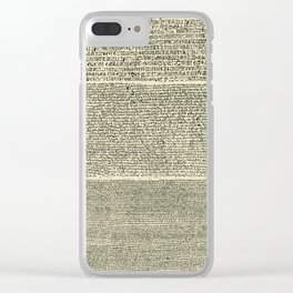 The Rosetta Stone // Parchment Clear iPhone Case