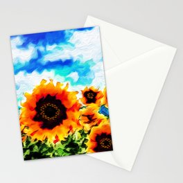 Sunflowers - 2 Stationery Cards