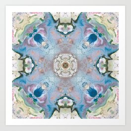 Blue Stone Abstract Design Art Print