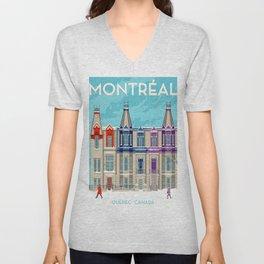 Montreal - Quebec - Canada Unisex V-Neck