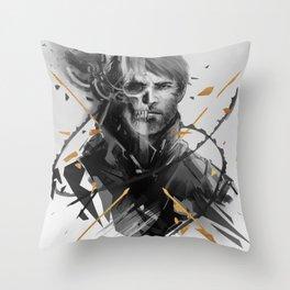 Corvo Thanatos Throw Pillow