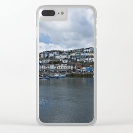 Brixham The Colourful Harbour Clear iPhone Case