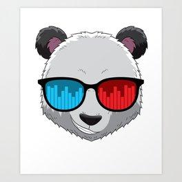 Party Animal DJ Pandas Music Party Beat Sunglasses Art Print