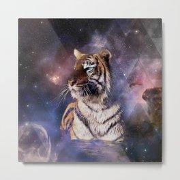 Triangle Tiger Metal Print