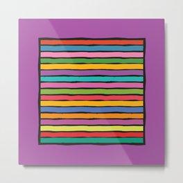 dp203-9B Colorful Stripes Metal Print