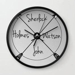 Holmes'Watson Wall Clock