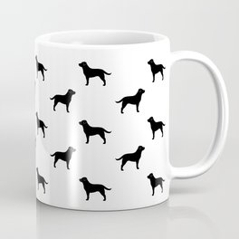 Black Labrador Retriever Silhouette Coffee Mug