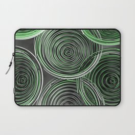 Black, white and green spiraled coils Laptop Sleeve