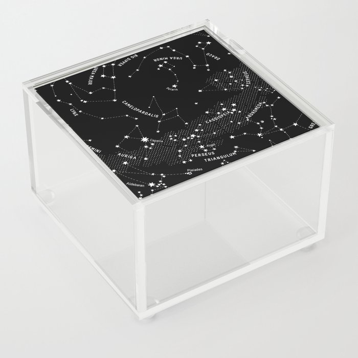 Constellation Map - Black Acrylic Box
