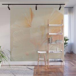 Ginkgo Biloba Botanical Abstract Graphic Art Rust Gradient Wall Mural