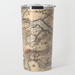 Map Of Greece 1630 Travel Mug