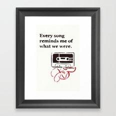 Love Mix Tape Framed Art Print