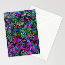 Floral Abstract Stained Glass G276 Stationery Cards