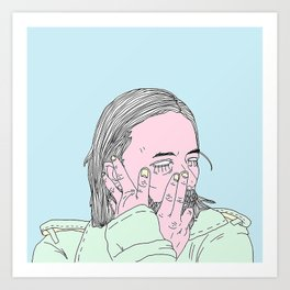 Out of Control on Videotape Art Print