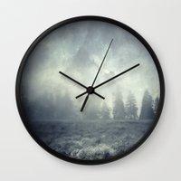 guardians Wall Clocks featuring guardians  by Dirk Wuestenhagen Imagery