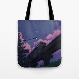 Moonrise twilight Tote Bag