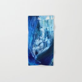 Cerulean [5]: a vibrant blue abstract with texture and layers Hand & Bath Towel