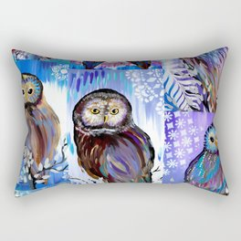 Owl collage Rectangular Pillow