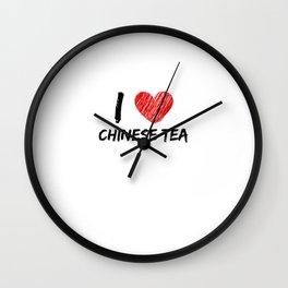 I Love Chinese Tea Wall Clock