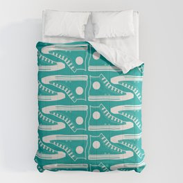 'The Con Artist' - Green Converse Pattern Comforters