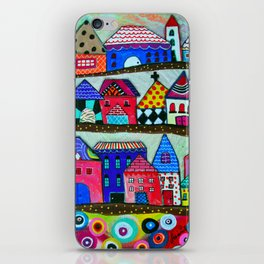 Mexican Town House of Colors Painting iPhone Skin