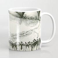 hunting Mugs featuring Moon Hunting by Nayoun Kim