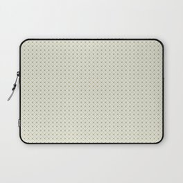 Earthy Green on Cream Parable to 2020 Color of the Year Back to Nature Polka Dot Grid Pattern Laptop Sleeve
