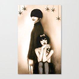 The Dahlia Twins Canvas Print