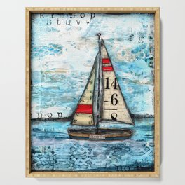 Discovery Sail Boat Serving Tray