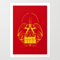 dark side Art Prints featuring Dark Side by francescoporoli