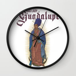 Bag Lady of Guadalupe Wall Clock
