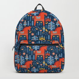 Scandivian Fairytale in Blue Backpack