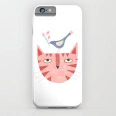 Cat, bird and flower Slim Case iPhone 6s