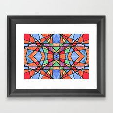 mexican stained glass Framed Art Print
