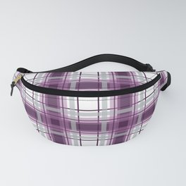 Plaid in Mauve, Pink and Gray Fanny Pack