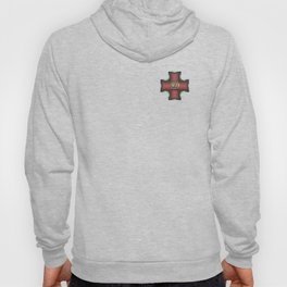 """Diligence"" Chinese Calligraphy on Celtic Cross Hoody"