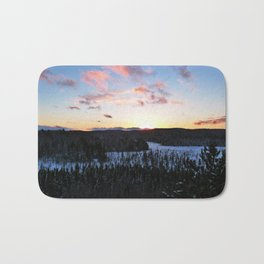 Algonquin Winter Sunset Bath Mat