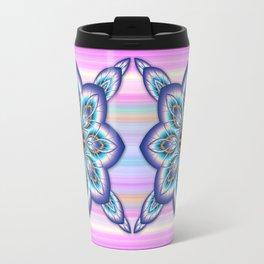 Fantasy flower in purple and blue Travel Mug
