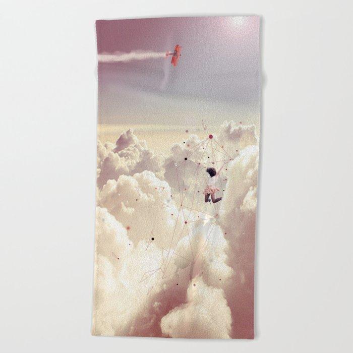 JUMPING IN FLUFFY R' Beach Towel