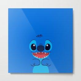 Stitch Cute Face Metal Print
