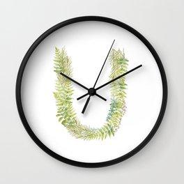 Initial U Wall Clock