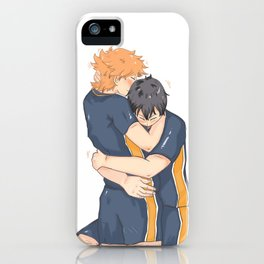 kagehina -tired but happy iPhone Case